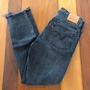 Levis 501 Skinny Gray Jeans Button Fly (W27, L28)